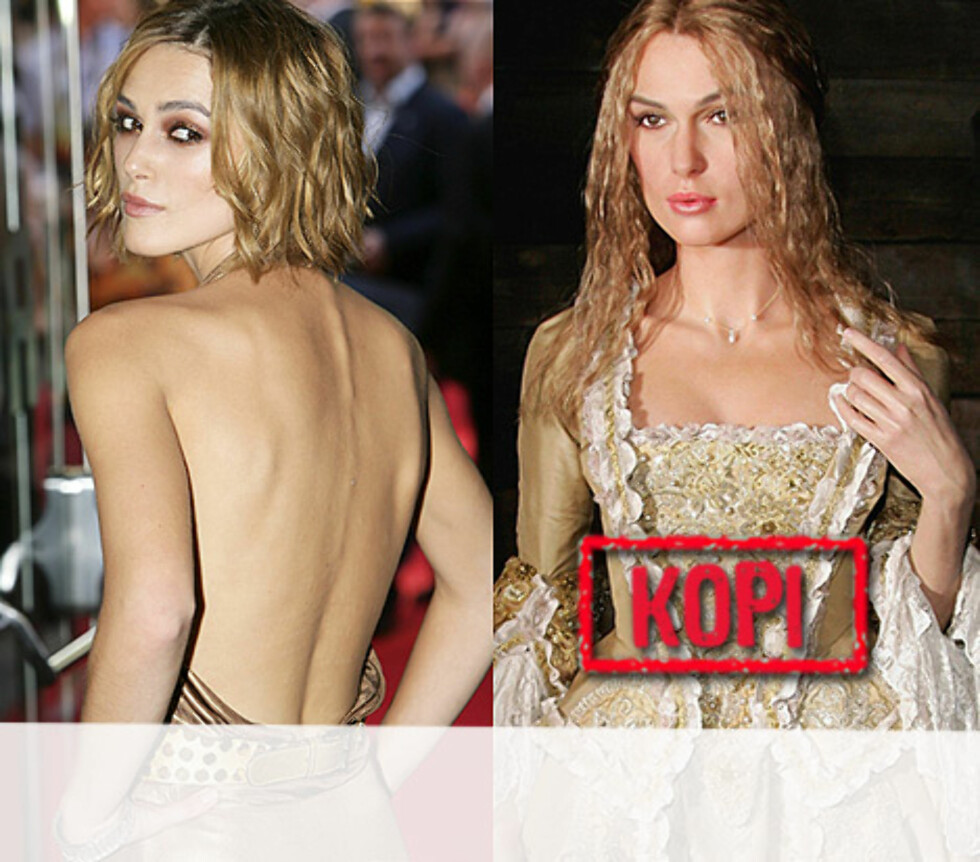 "<strong>TYNT KOPIERT:</strong> Her er syltynne Keira Knightley som Elizabeth Swann i ""Pirates of the Caribbean"". Foto: All Over Press"