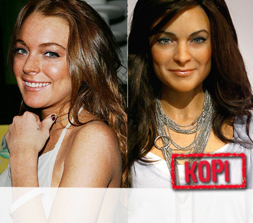 "<strong>UTEN FREGNER:</strong> Lindsay Lohan smiler like søtt på Tussauds som i virkeligheten. Snart er hun kinoaktuell i filmen ""Just My Luck"". Foto: All Over Press"