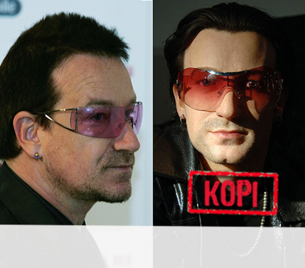 <strong>ROCKA KOPI:</strong> U2-vokalist Bono rocker også som voksfigur.  Foto: All Over Press