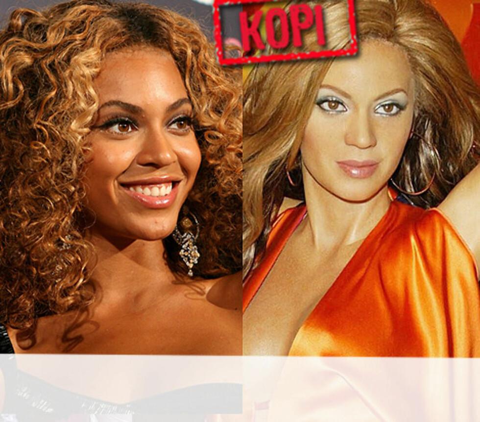 VAKKER I VOKS: Beyoncé har alltid sett ut som en voksfigur. Nå kan hun beundres på nært hold i Tussauds også. Foto: All Over Press