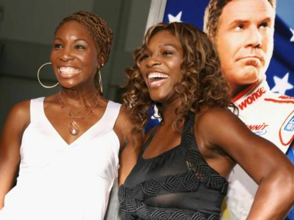 "<strong>LOS ANGELES, CA - JULY 26:</strong>  (L-R) Tennis athletes Venus Williams and Serena Williams arrives at the premiere of ""Talladega Nights: The Ballad of Ricky Bobby"" at Mann's Grauman Chinese Theater on July 26, 2006 in Hollywood, California.  (Photo by Kevin Win Foto: All Over Press"