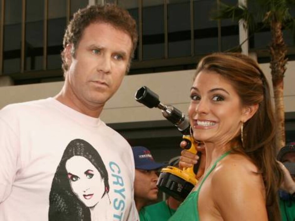 "<strong>LOS ANGELES, CA - JULY 26:</strong>  Actor Will Ferrell and television personality Maria Menounos arrive at the premiere of ""Talladega Nights: The Ballad of Ricky Bobby"" at Mann's Grauman Chinese Theater on July 26, 2006 in Hollywood, California.  (Photo by Kevin Foto: All Over Press"