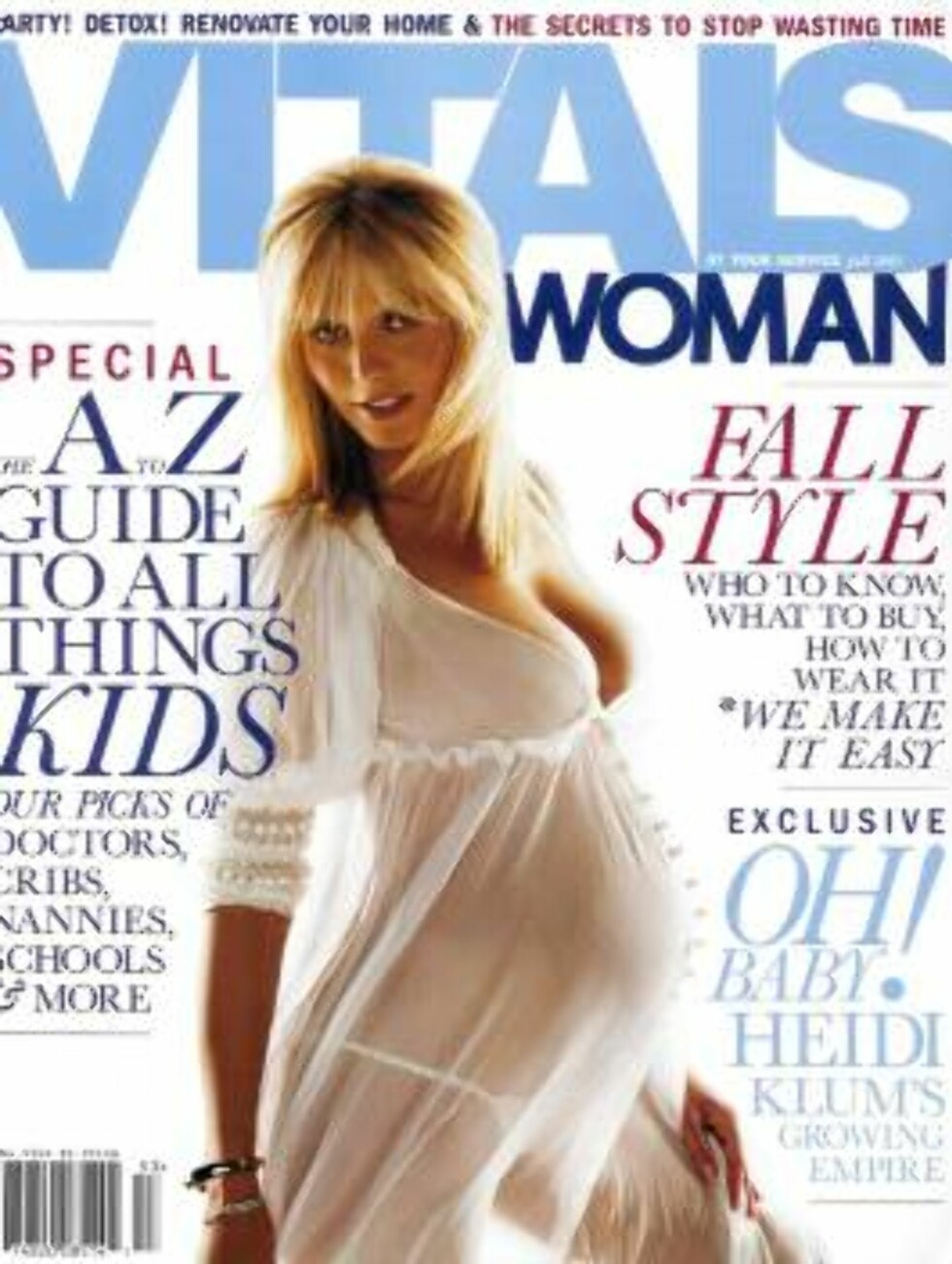 Code: MOSTX8-952, 13.08.2005: Topmodel HEIDI KLUM posing pregnant for 'Vitals Woman' magazine. Most Wanted Pictures/All Over Press  NO CREDIT / ALL OVER PRESS *** Local Caption *** 00007193 Foto: All Over Press