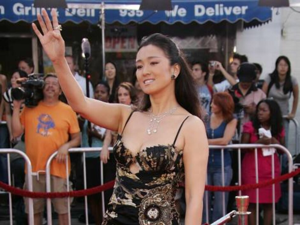 """<strong>WESTWOOD, CA - JULY 20:</strong>  Actress Li Gong arrives at the Universal Pictures premiere of """"Miami Vice"""" held at the Mann's Village Theatre on July 20, 2006 in Westwood, California.  (Photo by Frazer Harrison/Getty Images) *** Local Caption *** Li Gong  * SPEC Foto: All Over Press"""