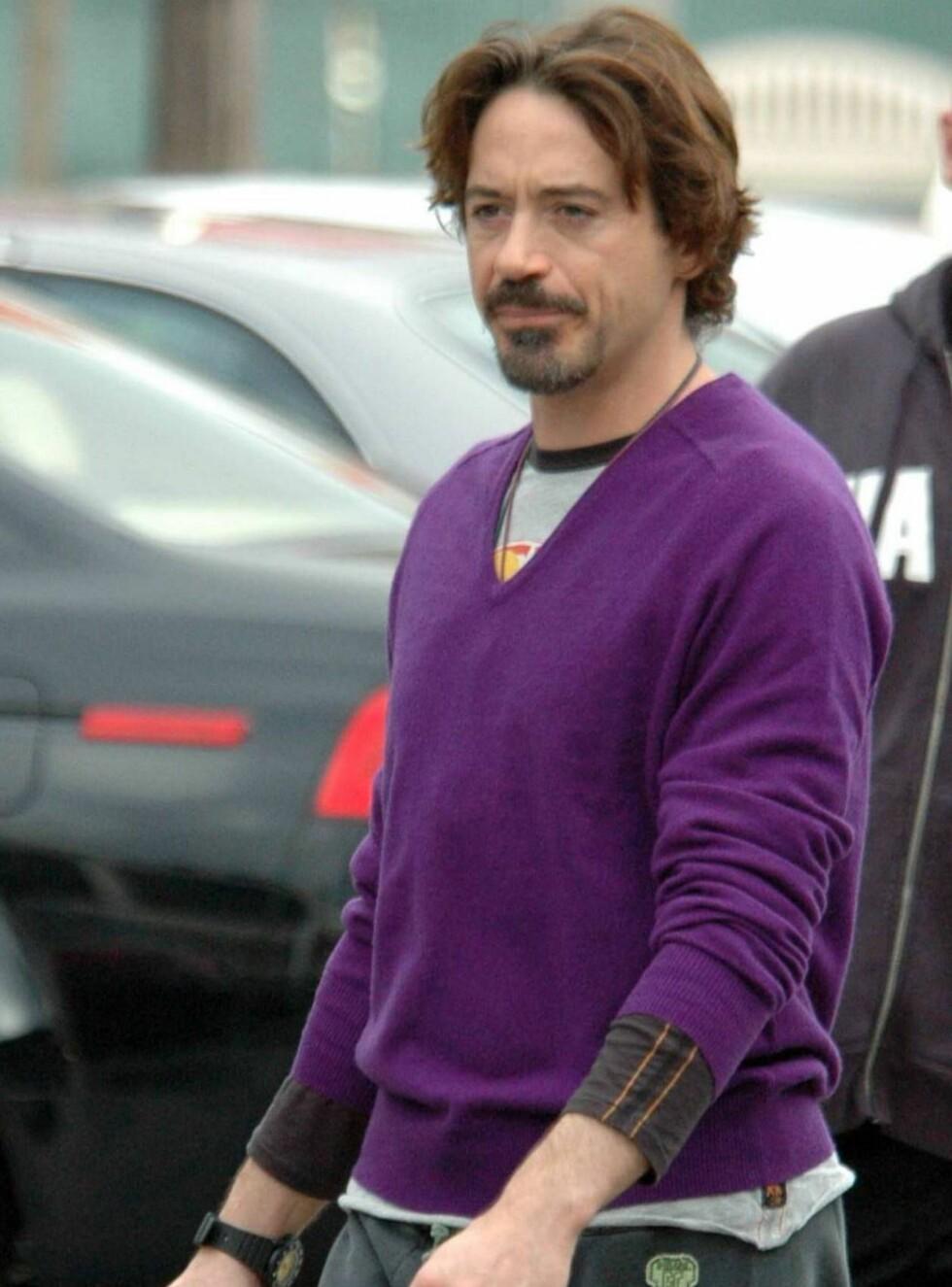 <strong>PÅ GATA:</strong> Robert Downey jr har flere ganger fått sparken på grunn av sitt rusmisbruk. Foto: All Over Press