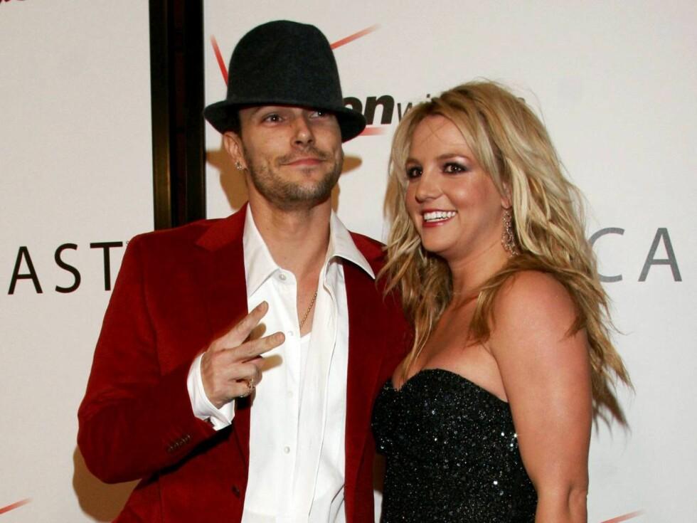 KJÆRLIGHET: I august skal Britney og Kevin fornye ekteskapsløftene sine på Hawaii. Foto: All Over Press