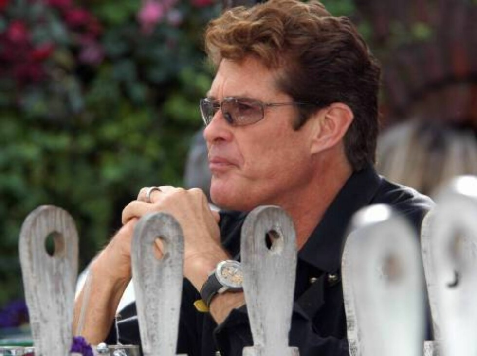 Code: X17XX8 - no code, Beverly Hills, USA, 01.03.2005: Baywatch star David Hasselhoff looks better after a long fight against his alcohol addiction, in and out of rehab. He is having lunch at The Ivy in Beverly Hills. All Over Press / X17 Agency / ALL O Foto: All Over Press