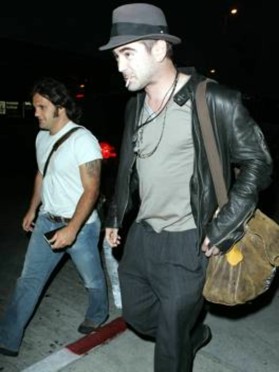 Colin Farrell ot of rehab  arriving at LAX with hat and boots. June 3, 2006 X17agency exclusive / ALL OVER PRESS Foto: All Over Press