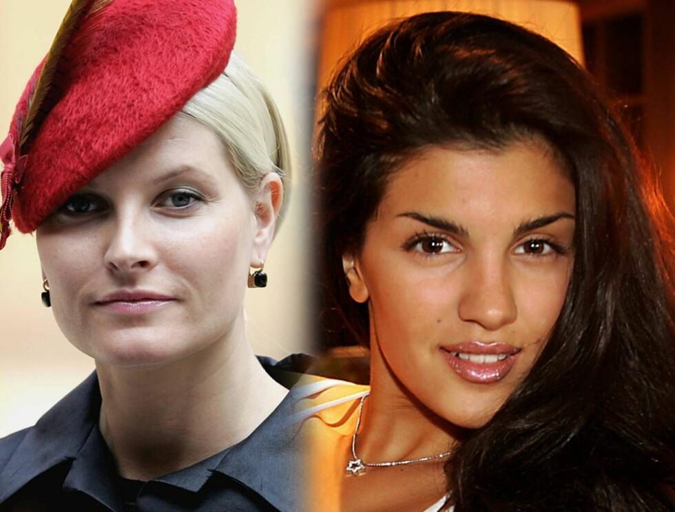SAMMENLIGNES: Showansvarlig for Norway Cup sammenligner Mette-Marit og Aylar. (Fotomontasje)