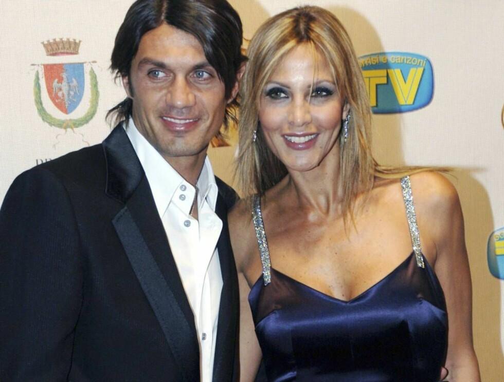 TRENDY PAR: Maldini og kona Adriana er minst like stilfulle som Posh og Becks! Foto: All Over Press