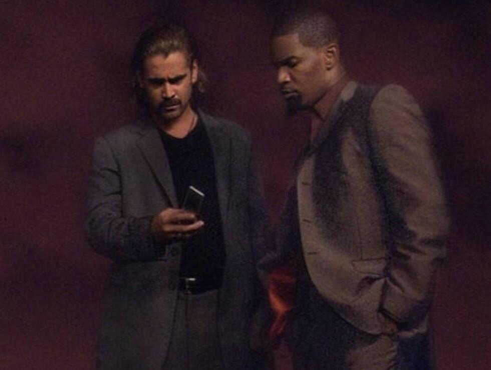 <strong>MOTELØVER:</strong> Farrell og Foxx satser på opprettholde politiguttas status som moteikoner i filmen... Foto: All Over Press