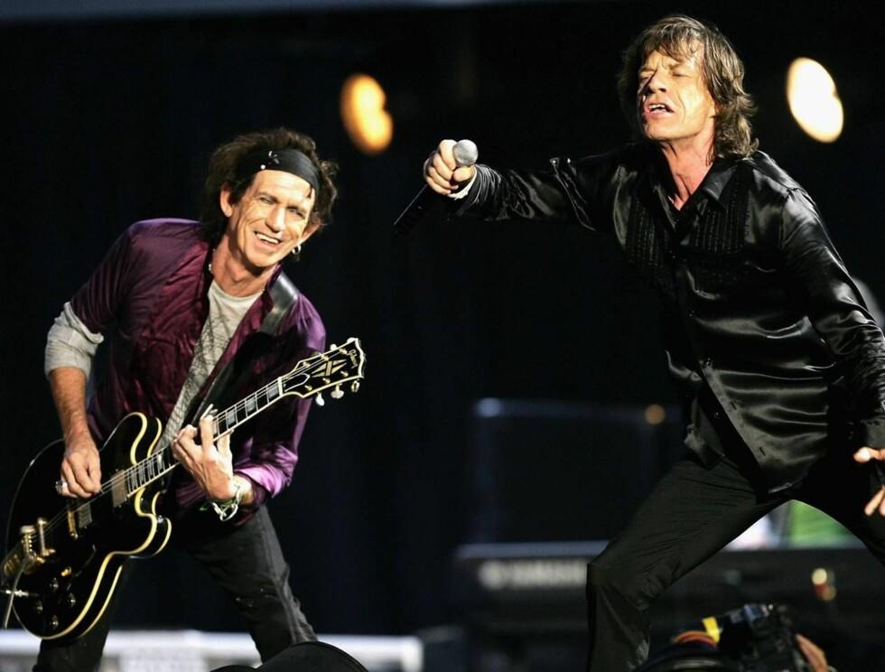 <strong>FORTSATT SPREKE:</strong> Keith Richards og Mick Jagger holder fortsatt koken, selv om de har passert 60 for lenge siden... Foto: All Over Press