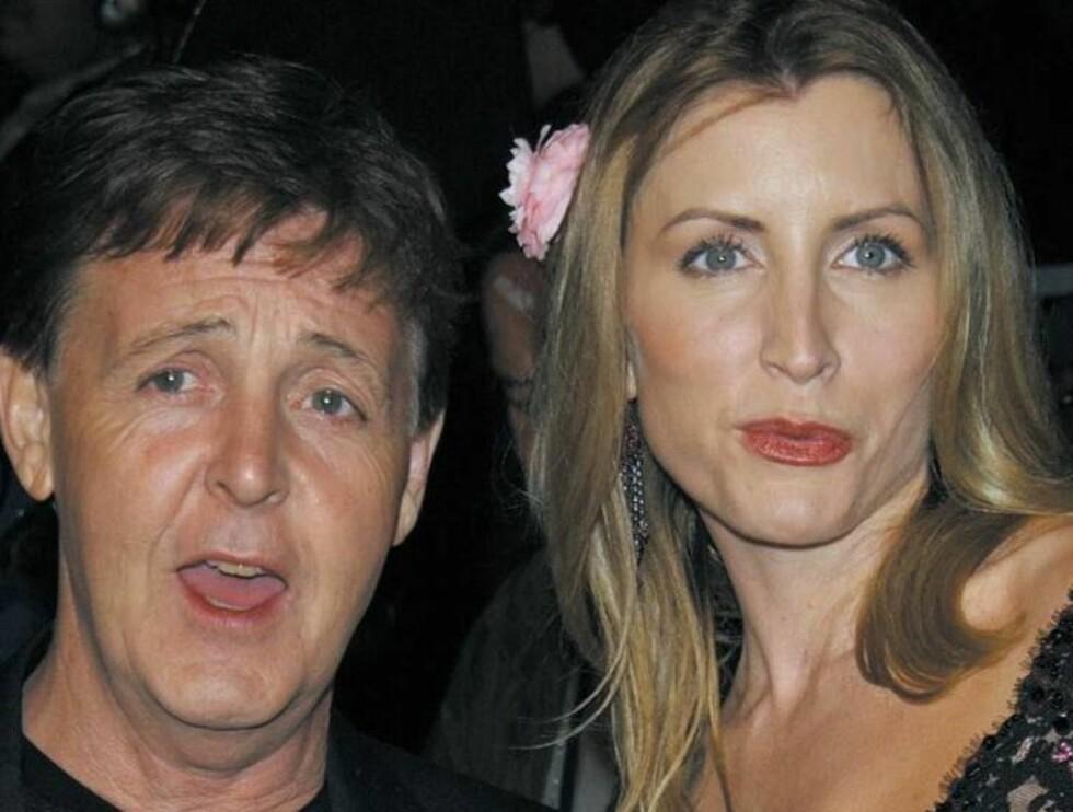 RASENDE: Heather Mills skal ha takket nei til 300 millioner kroner fra Paul McCartney. Hun hadde sett for seg seks ganger så mye! Foto: All Over/Getty