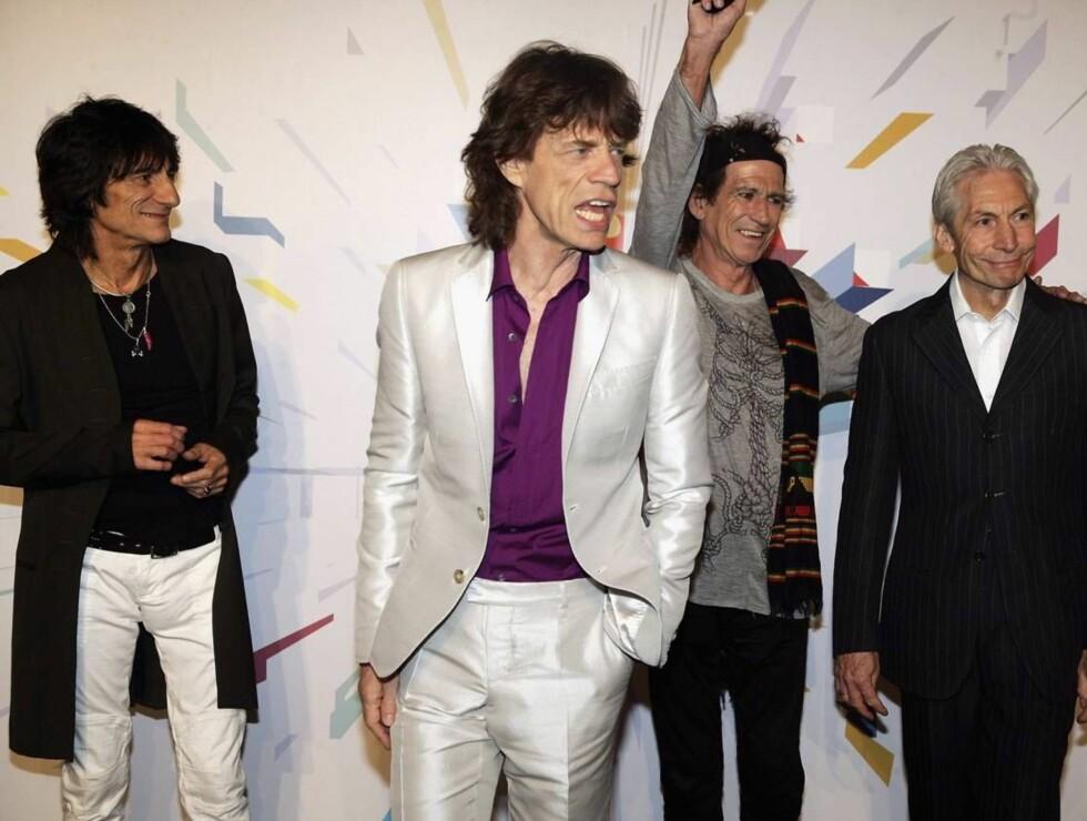 ROCKER VIDERE: Rolling Stones lover at de kommer til Bergen. I kveld begynner turneen i Milano. Foto: All Over Press
