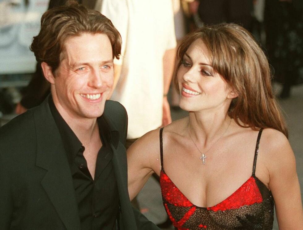 TABBE: Hugh Grant hadde vært sammen med modellen Liz Hurley i åtte år da han plukket opp en gateprostituert i Los Angeles. Det skulle han aldri ha gjort... Foto: AP