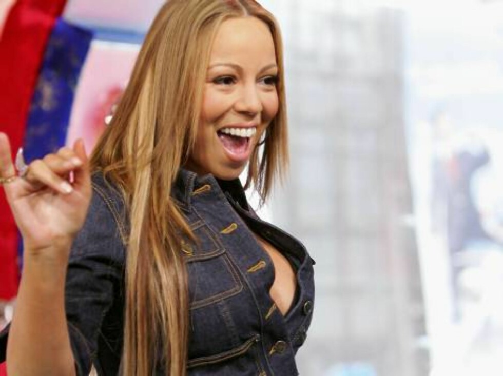 NEW YORK - APRIL 12:  (U.S. TABLOIDS OUT) Singer Mariah Carey makes an appearance on MTV's Total Request Live at MTV Studios April 12, 2006 in New York City.  (Photo by Evan Agostini/Getty Images) *** Local Caption *** Mariah Carey  * SPECIAL INSTRUCTIONS Foto: All Over Press
