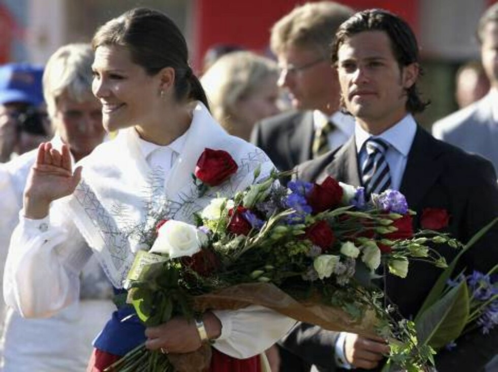 STOCKHOLM, SWEDEN - JULY 14:  (From Left to Right) Crown Princess Victoria of Sweden arrives to attend her Birthday Concert with Prince Carl Philip of Sweden and Princess Madeleine of Sweden on July 14, 2006 in Borgholm, Sweden.  (Photo by Pascal Le Segre Foto: All Over Press