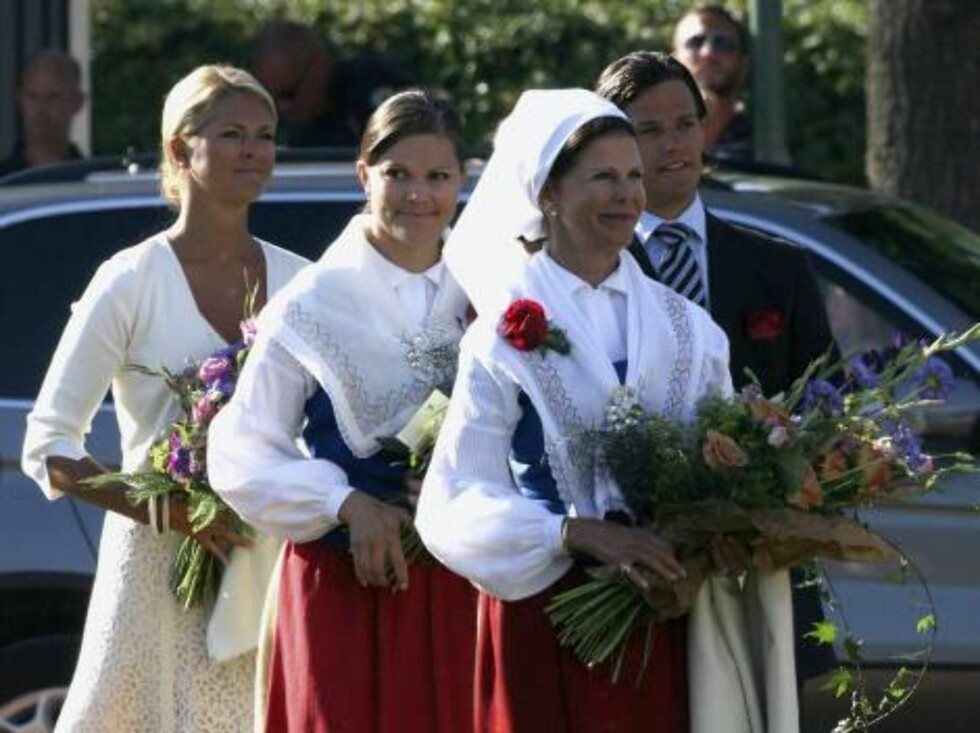 STOCKHOLM, SWEDEN - JULY 14: Princess Victoria of Sweden arrives to attend her Birthday Concert with Queen Silvia of Sweden, Prince Carl Philip of Sweden and Princess Madeleine of Sweden on July 14, 2006 in Borgholm, Sweden.  (Photo by Pascal Le Segretain Foto: All Over Press