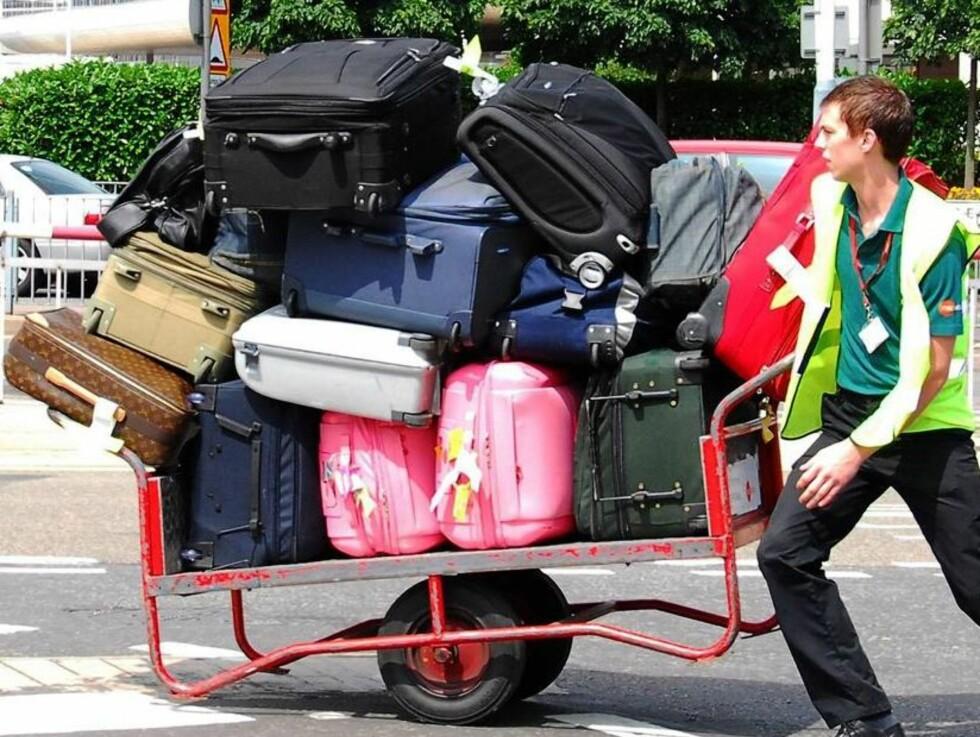 EKSTRA SKIFT: Paris gikk over de tillatte 20 kiloene baggasje med god margin... Foto: All Over Press