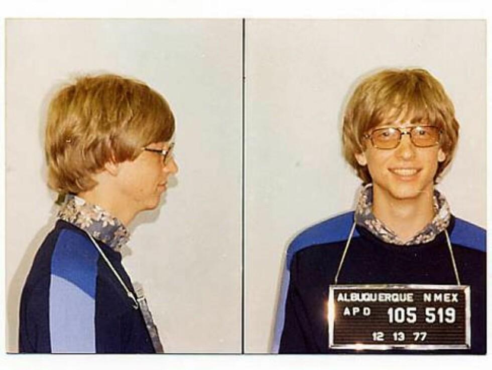 MICRO-SLEM: Microsoft-sjef Bill Gates ble fotografert av onkel Politi i 1977 etter en trafikkforseelse. Detaljene rundt pågripelsen er nå mystisk forsvunnet... Foto: Amerikansk politi