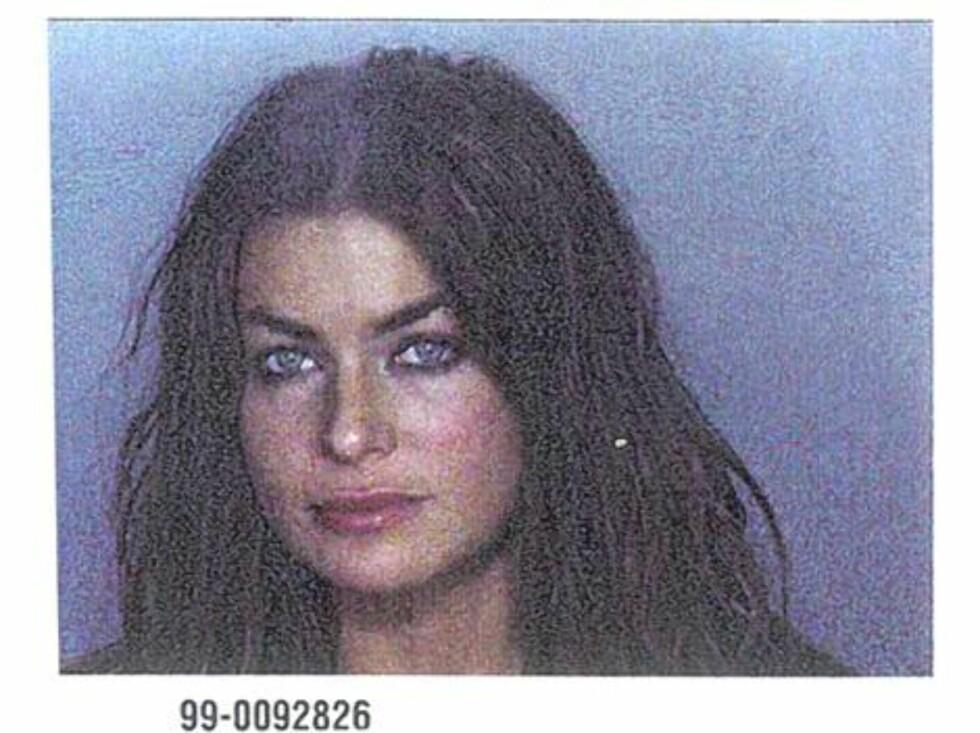 HUSBRÅK: Carmen Electra ble pågrepet for å ha banket eksmannen Dennis Rodman, men siktelsen ble frafalt. Foto: Amerikansk politi