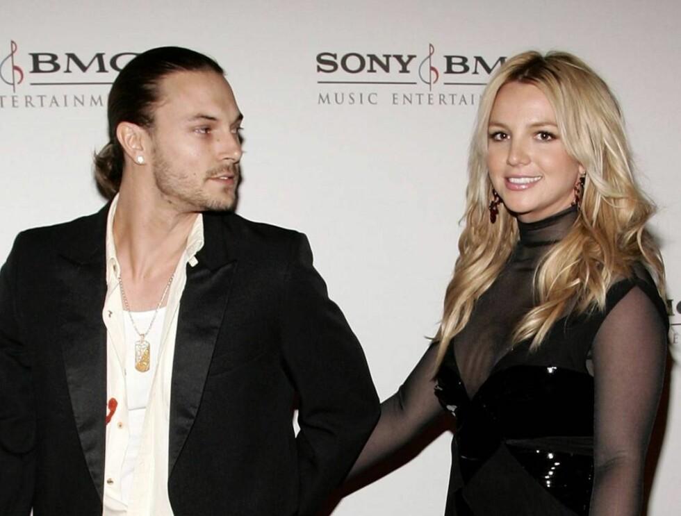 TURBULENT EKTESKAP: Kevin og Britney er fortsatt et par, og til høsten venter de sitt andre barn.  Foto: All Over Press/Getty