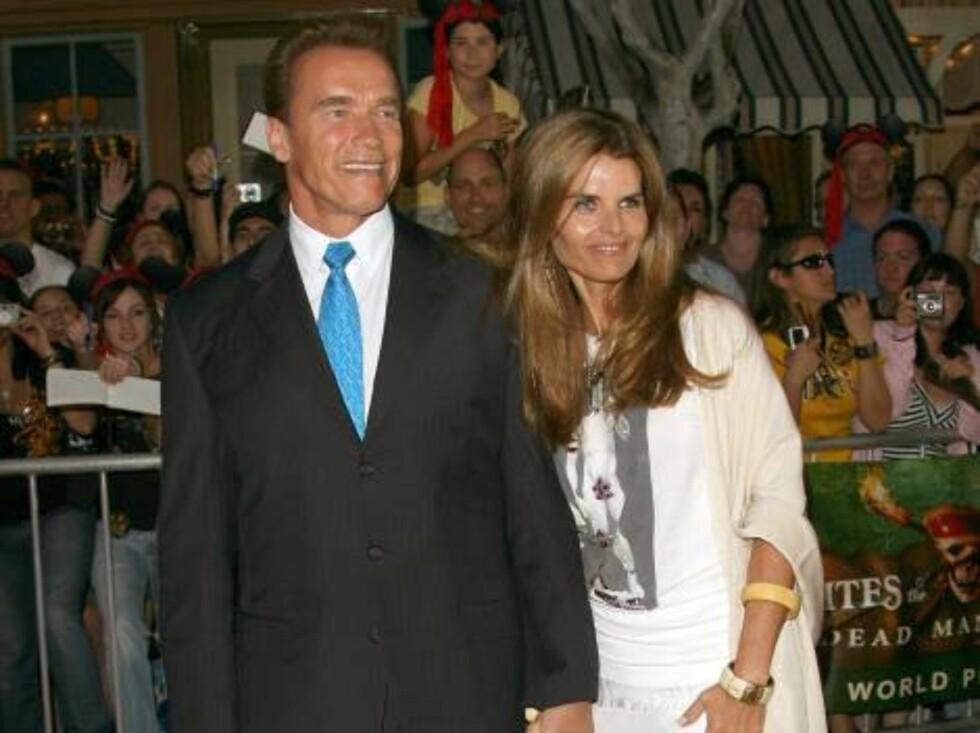 SJEFEN: Californias guvernør Arnold Schwarzenegger og kona Maria Shriver. Foto: All Over Press