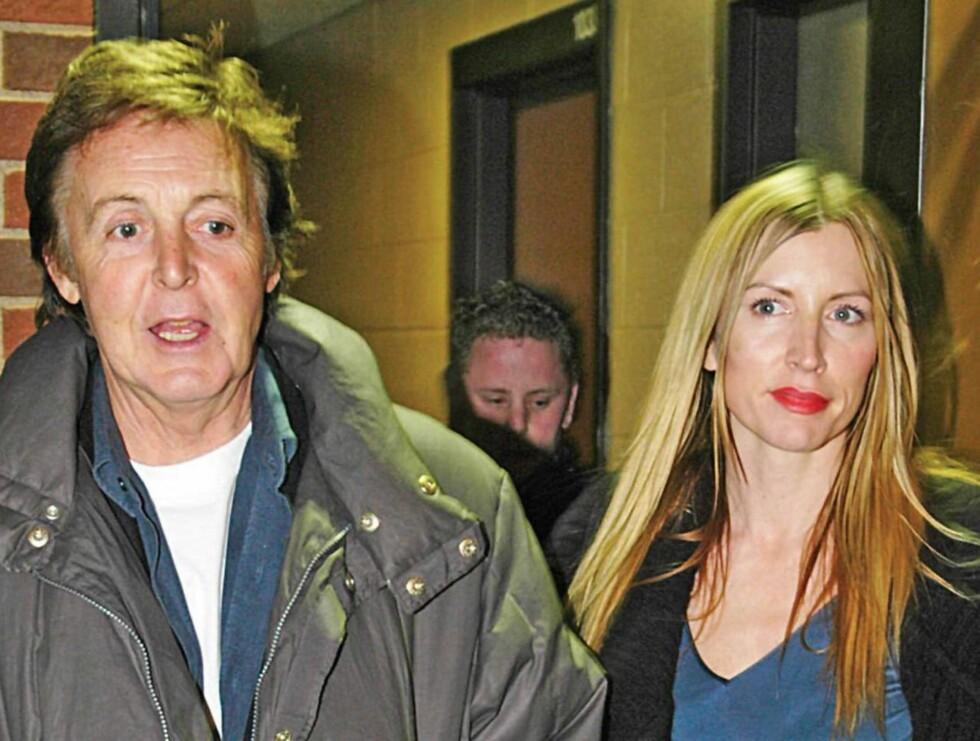 SIVILISERT: Selv om pressen har døpt henne Lady Møkka oppfører Paul McCartney seg som en gentleman mot eks-kona. Foto: AP/SCANPIX