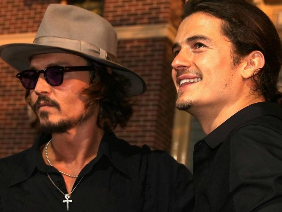 RØVERGUTTER: Johnny Depp og Orlando Bloom blir endelig å se i Pirates-oppfølgeren. Foto: All Over Press
