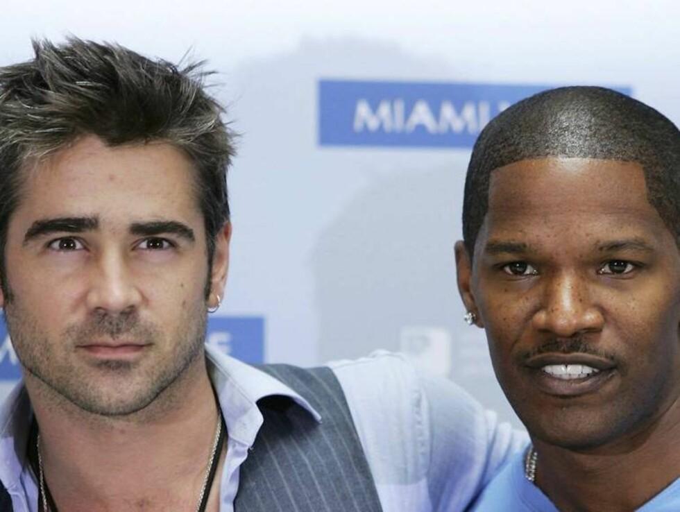 LIKER Å FLØRTE: Både Colin Farrell (30) og Jamie Foxx (38), er blant Hollywoods største rundbrennerne... Foto: All Over Press