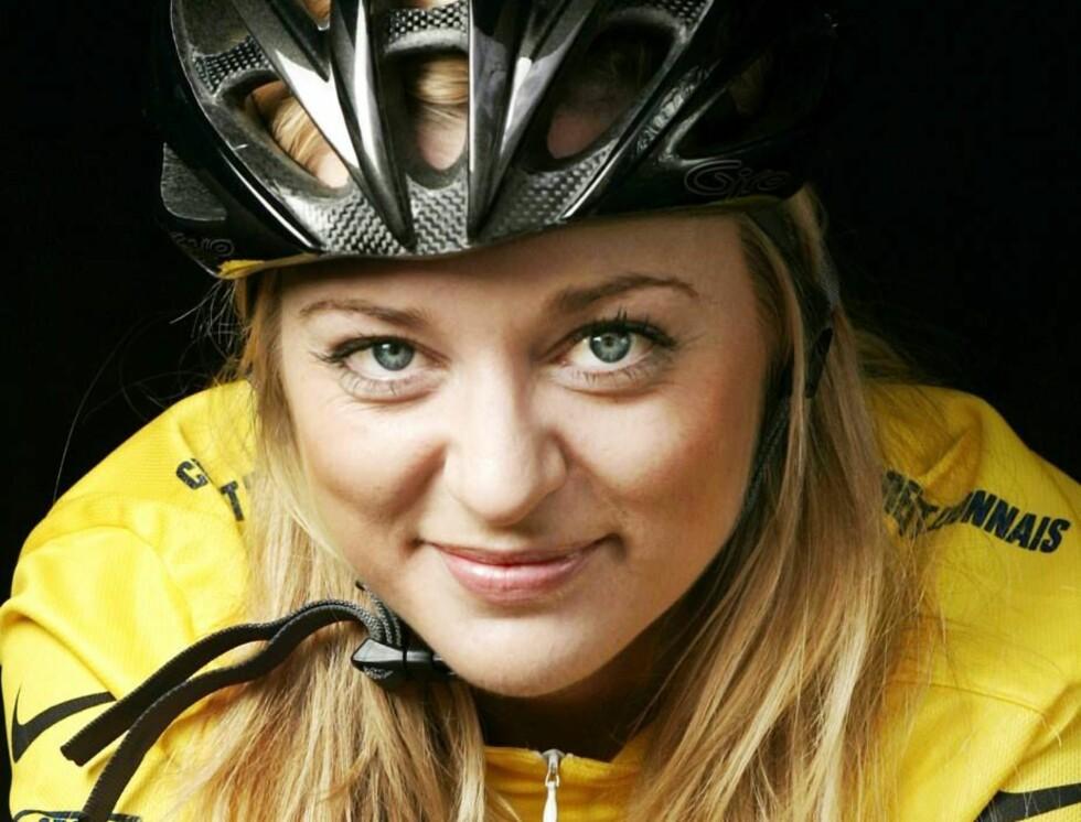 FRANKRIKE RUNDT: Annamarta Giske i gul ledertrøye! Foto: TV2