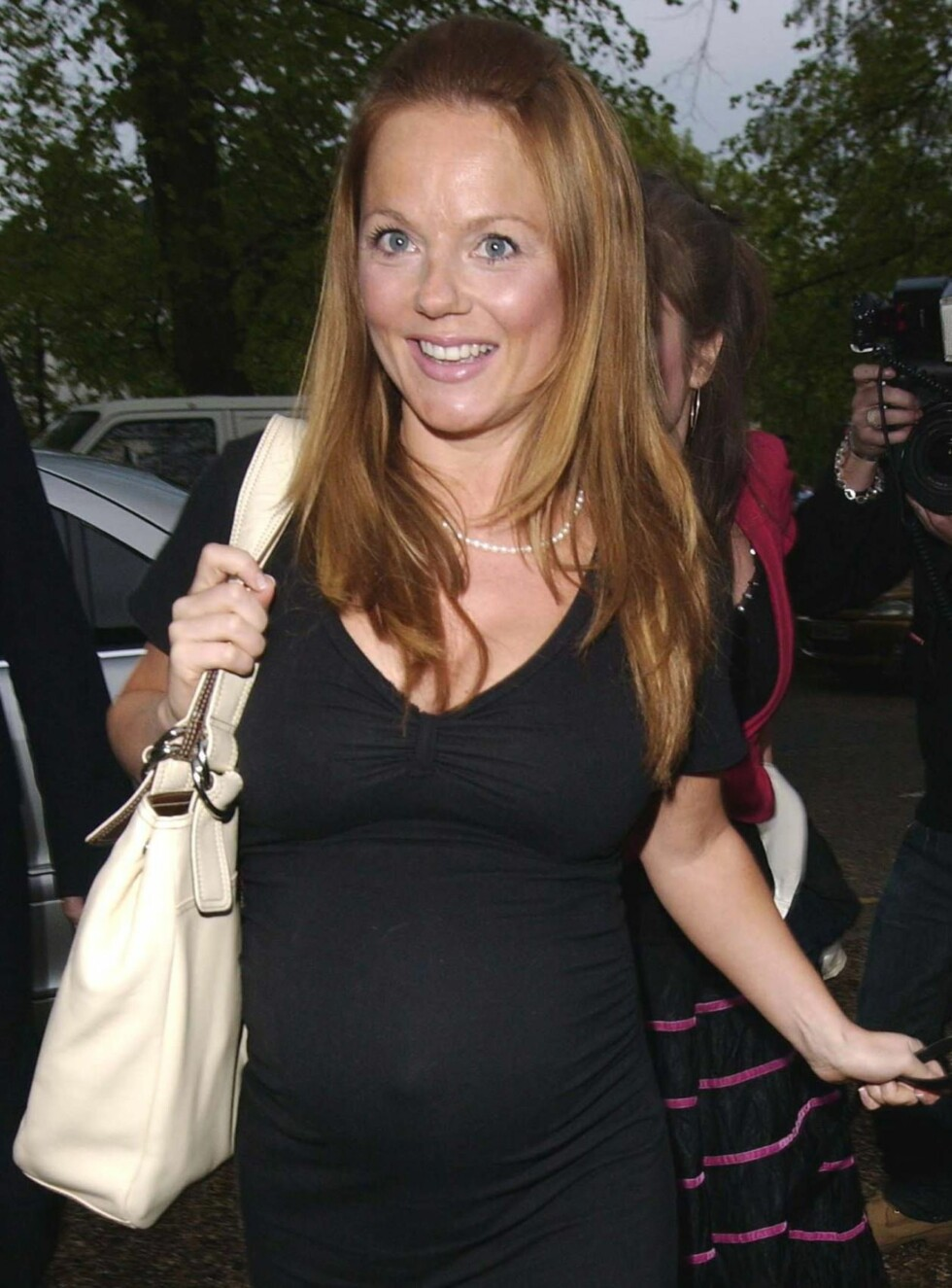 GRAVID: Geri slanket seg mens hun fortsatt gikk gravid. Foto: All Over Press