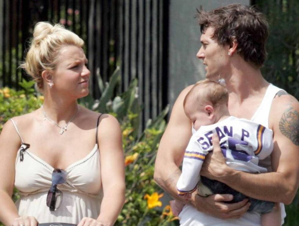 KJERNEFAMILIE?: Ekteskapet mellom Britney og Kevin er utvilsomt stormfullt, vil det vare? Foto: All Over Press