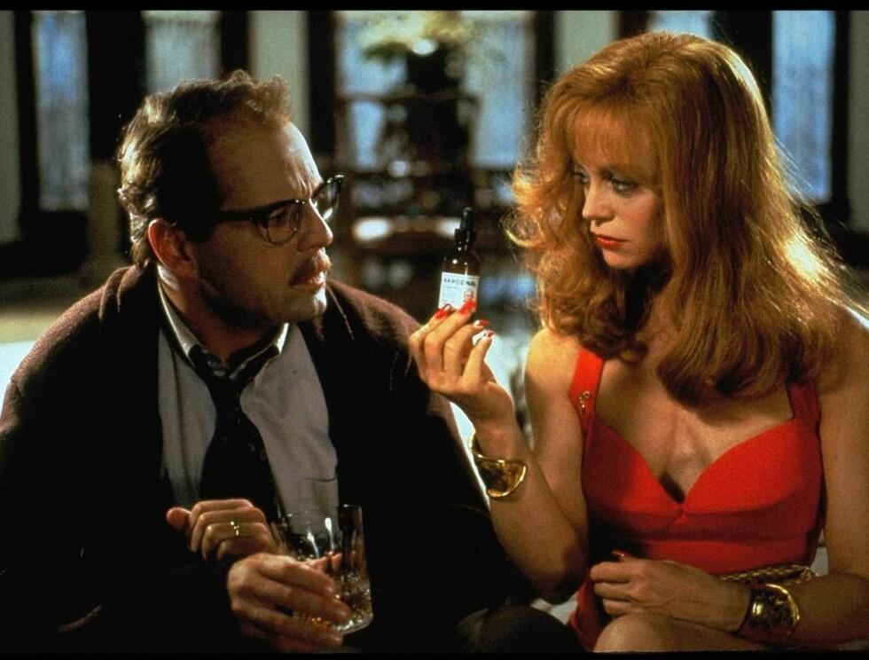 """RADARPAR: Bruce Willis og Goldie Hawn i """"Døden kler henne"""". Foto: NRK"""
