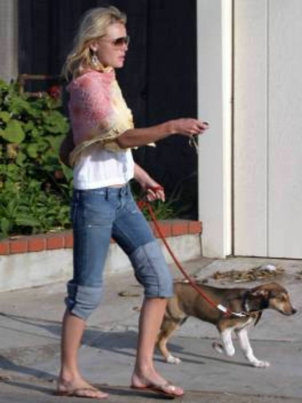 Orlando Bloom with girlfriend Kate Bosworth visiting Charlize Theron at her beach house in Malibu. Both took their dog on the beach. Orlando went swimming. June 6 2004 X17agency exclusive / ALL OVER PRESS Foto: All Over Press