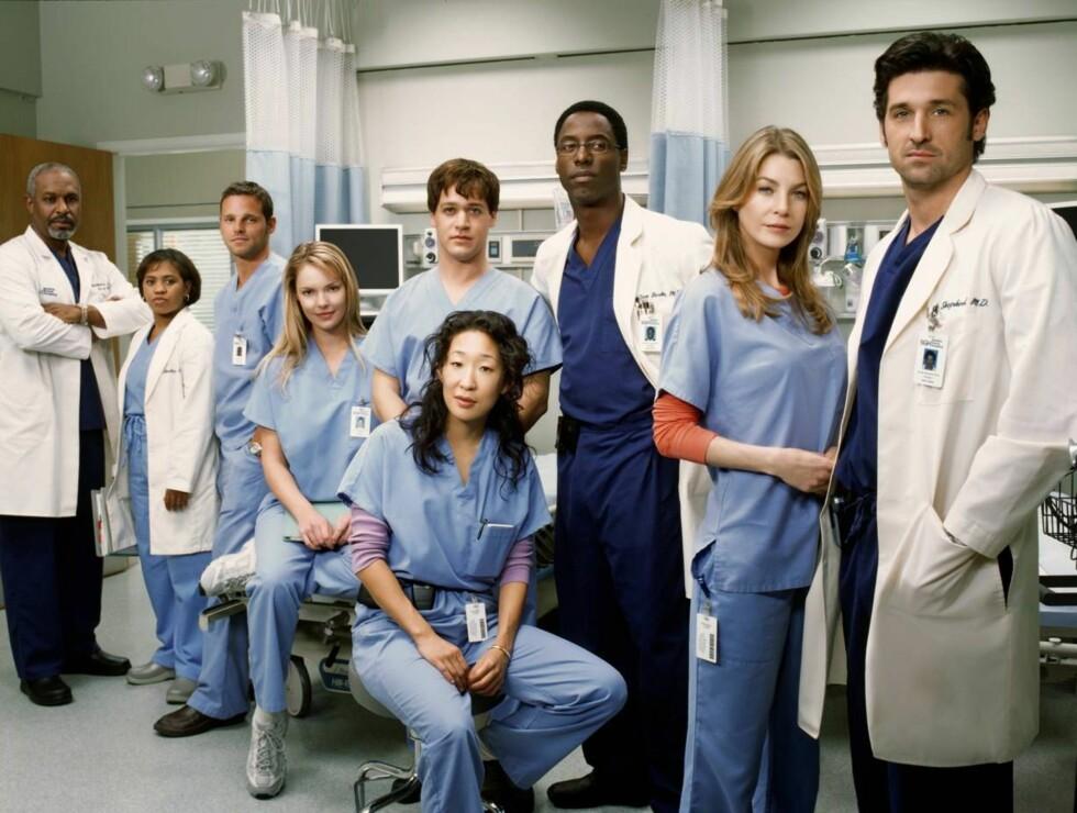 "ANATOMISK KORREKT: Her er staben i TV2s ""Grey's Anatomy"". Foto: TV 2"
