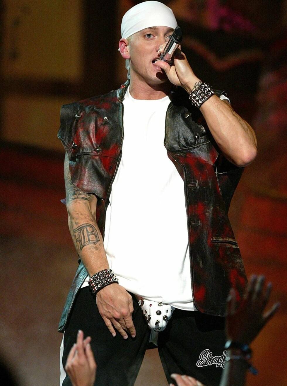 WESTERNHELT: Eminem bytter beite.  Foto: All Over Press
