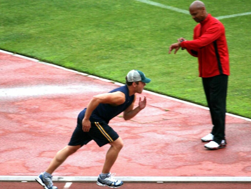 GA ALT: Ryan Phillippe holder stilen under sprintløpet. Foto: All Over Press
