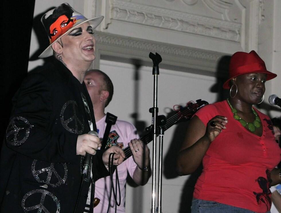 JAILHOUSE ROCK: Boy George må belage seg på mindre festing i New York-fengslet. Foto: All Over Press