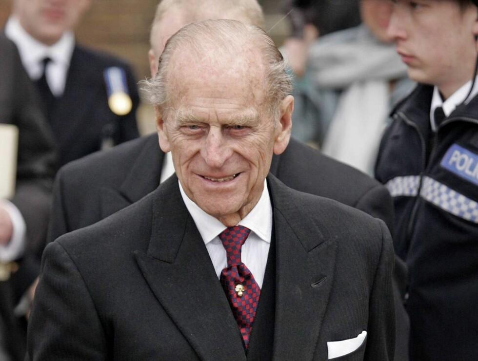 ALDRENDE: Prins Philip har vært innlagt på sykehus en rekke ganger de siste årene. Foto: All Over Press