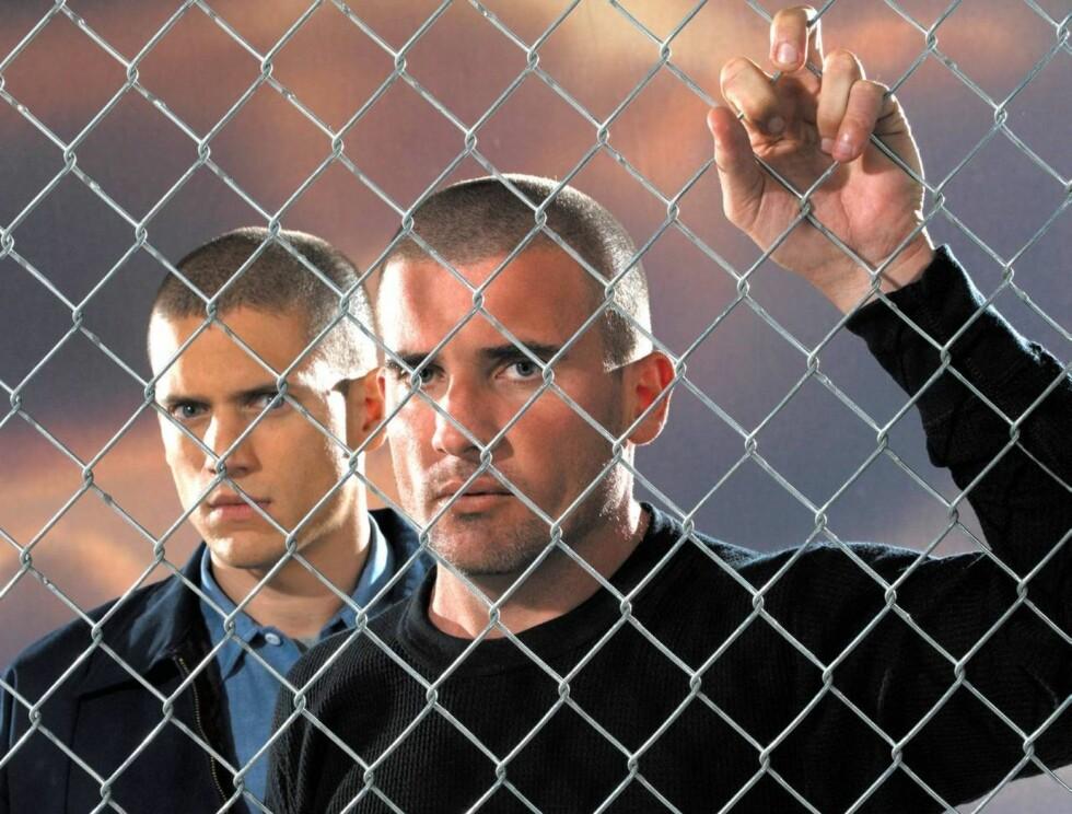 BARSKE KARER: Dominic Pursell og Wentworth Miller rømmer fra fengslet. Foto: TV3