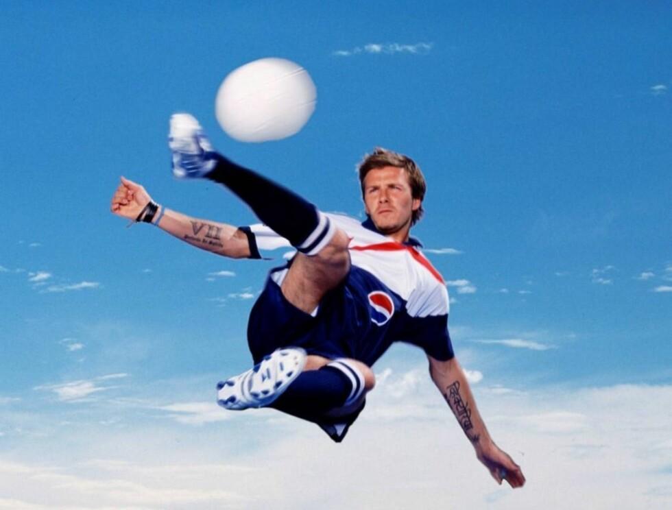 BLI SOM BECKS: Unge talenter får bryne seg mot David Beckham og andre fotballhelter. Foto: Pepsi