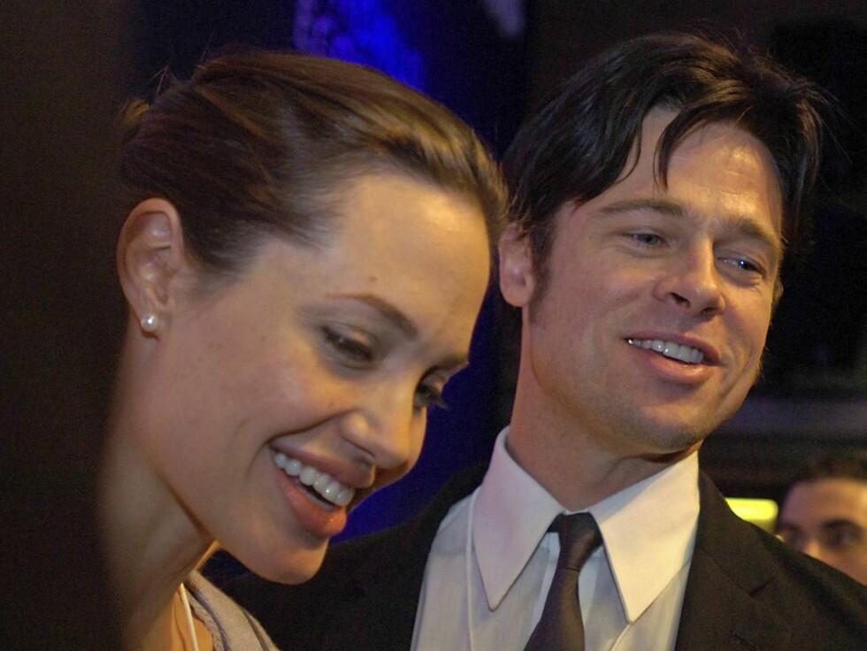 VAKKERT PAR: Angelina og Brad har blitt foreldre sammen. Datteren skal hete Shiloh Nouvel! Foto: AP/SCANPIX