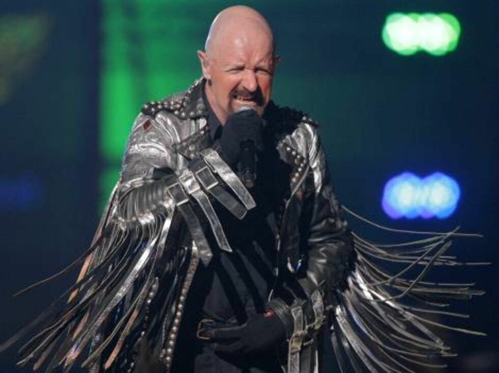 Rob Halford of Judas Priest performs during the first annual VH1 Rock Honors concert in Las Vegas on Thursday, May 25, 2006.   (AP Photo/Jae C. Hong) Foto: Scanpix,AP