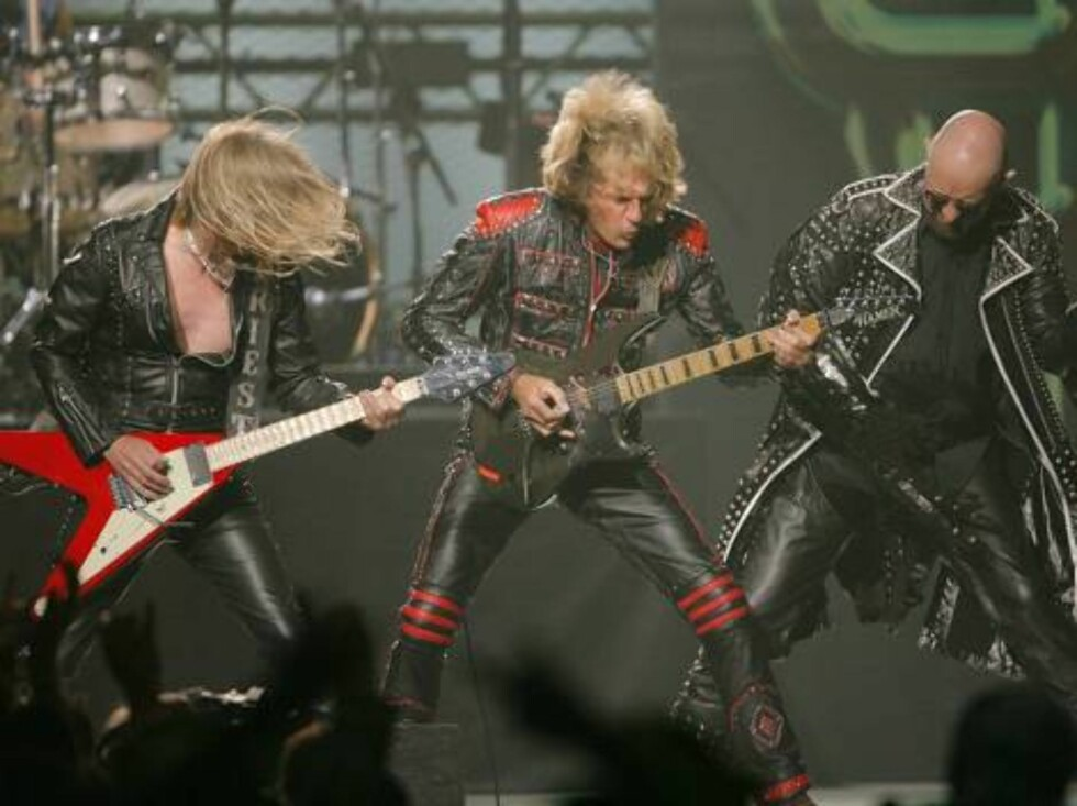 Heavy metal group Judas Priest performs during the first annual VH1 Rock Honors concert in Las Vegas on Thursday, May 25, 2006.   (AP Photo/Jae C. Hong) Foto: Scanpix, AP