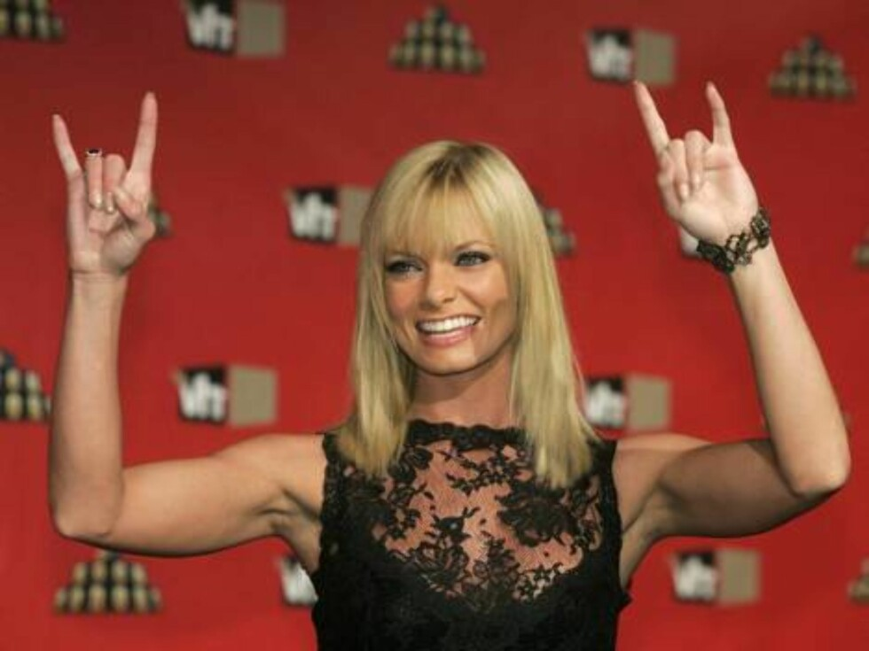 Actress Jaime Pressly poses for photographers as she arrives for VH1 Rock Honors concert in Las Vegas on Thursday, May 25, 2006.  (AP Photo/Jae C. Hong) Foto: Scanpix, AP