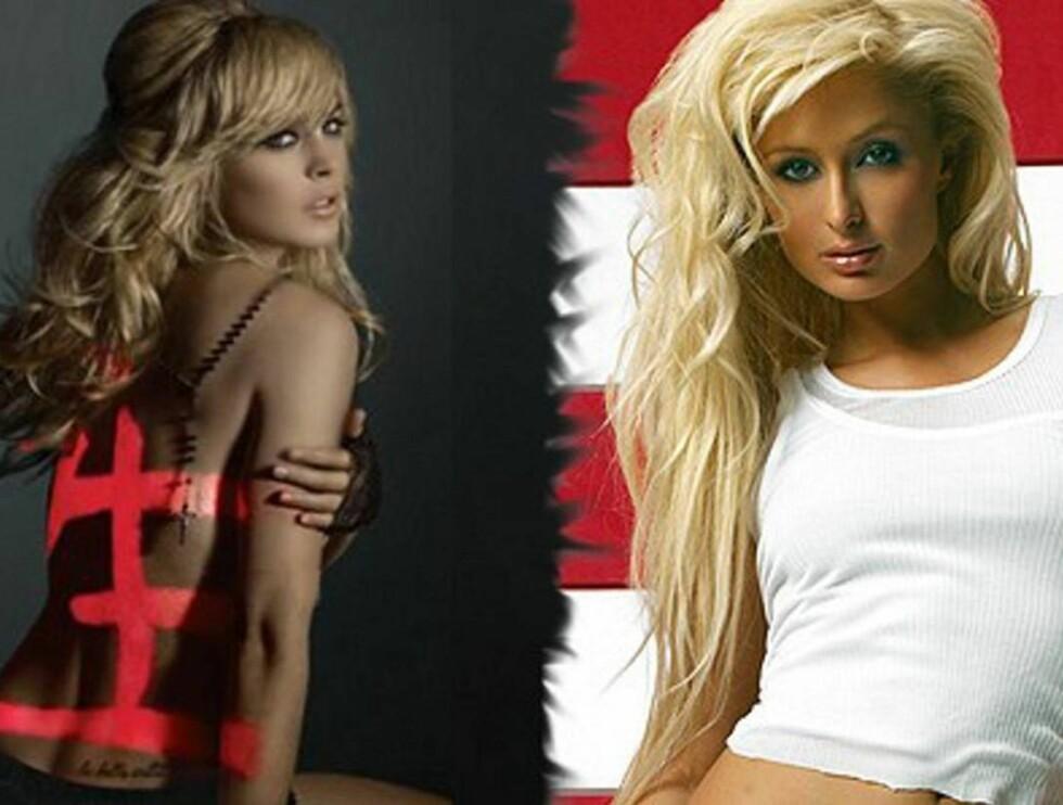 <strong>SJIKANE:</strong> Paris lot sin nye kjæreste æreskjelle Lindsay Lohan. Foto: topp.no
