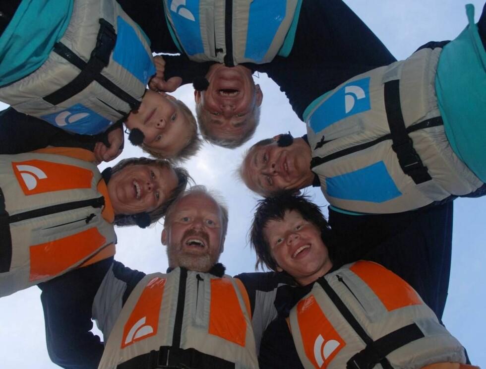 FINALEKLARE: Familien Rake fra Egersund og familien Carlsen Beyer fra Bergen. Foto: TV2