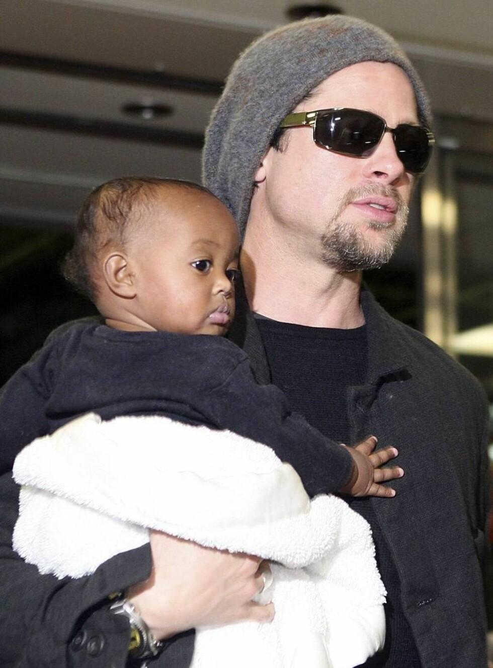 UROLIG: Zahara er alvorlig syk, og Brad er redd hun ikke får god nok behandling i Namibia. Foto: All Over Press