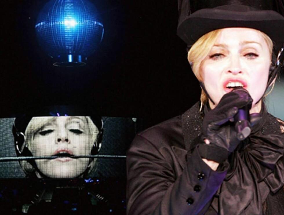 NYTT SHOW: Madonna erter på seg kirken.